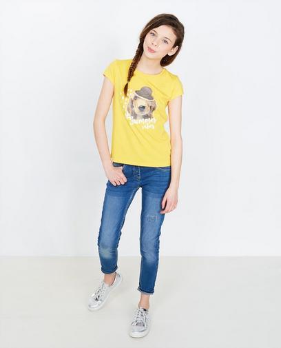 T-shirt met hondenprint